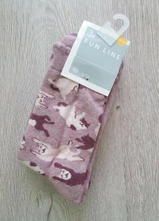 Фирменные носочки c&a - германия. р. 39/42 наборы по 3 пары