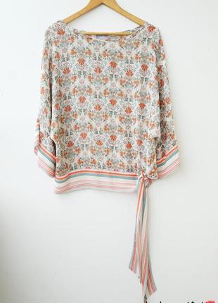 Ексклюзивная блуза кимоно с завязками на бедрах 12 14