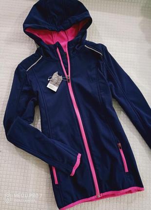 Фирменная легкая куртка софтшелл от немецкого бренда crivit 146/152