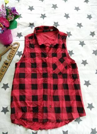 Стильная рубашка/блуза в клетку, рр м