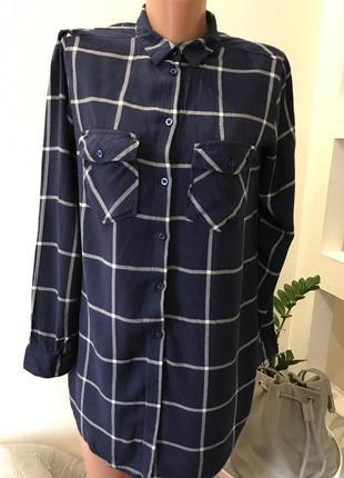 Рубашка длинная хлопковая h&m