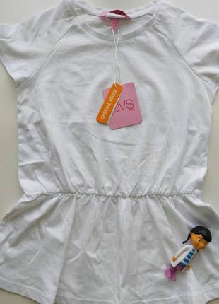 Хлопковая футболка-туника