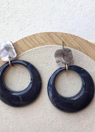 Серьги - гвоздики кольца