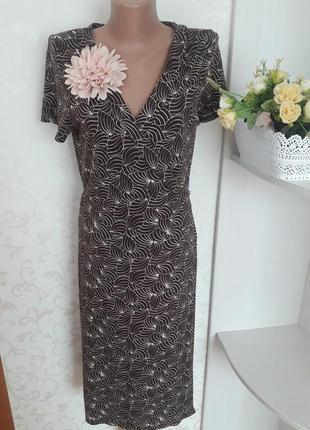 Красивое платье на запах.трикотажное коричневое платье.