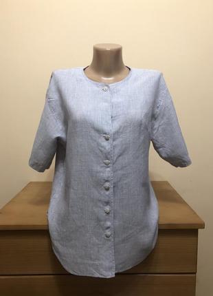 Льняная рубашка bogner в полоску