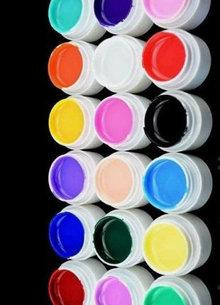 Цветной гель gdcoco uv, набор 18 штук