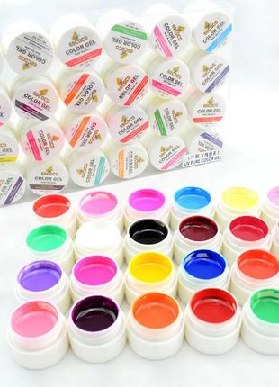 Цветной гель gdcoco uv, набор 24 штуки