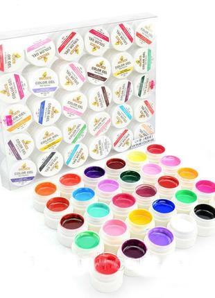 Цветной гель gdcoco uv, набор 30 штук