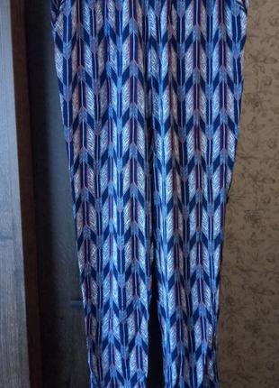 Легкие летние котоновые штаны h&m