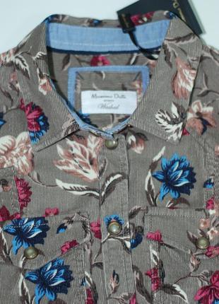 Вельветовая рубашка massimo dutti