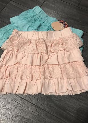 Красивая юбка с ажурными воланами