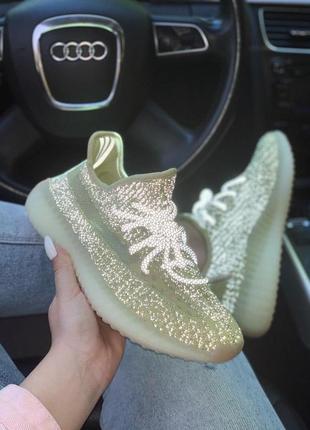 Женские кроссовки adidas yeezy 350 полностью рефлективные (36-40)