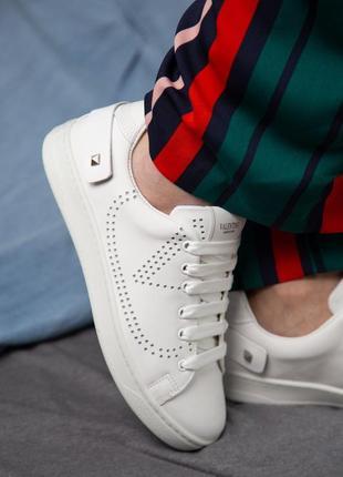 Valentino garavani white sneakers белые женские кроссовки наложенный платёж купить