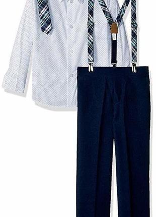 Костюм 4ка брюки рубашка галстук подтяжки van heusen на мальчика 6 лет