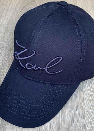 Бейсболка, кепка karl lagerfeld синяя