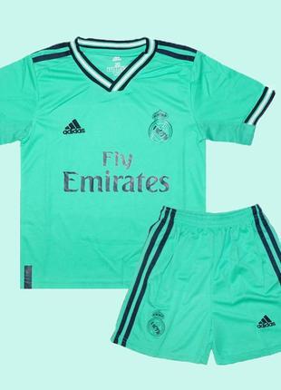 Футбольная форма реал мадрид 19-20 adidas резервная для детей (2829)