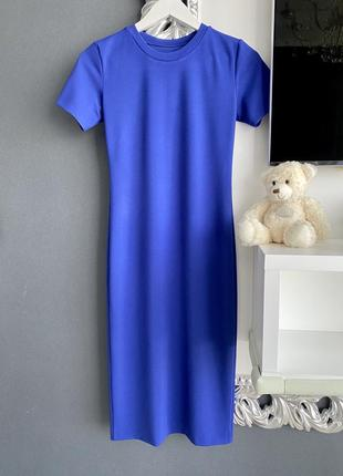 Платье синее электрик
