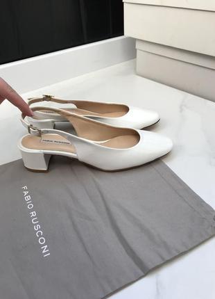 Белые туфли лак кожа fabio rusconi 36/37