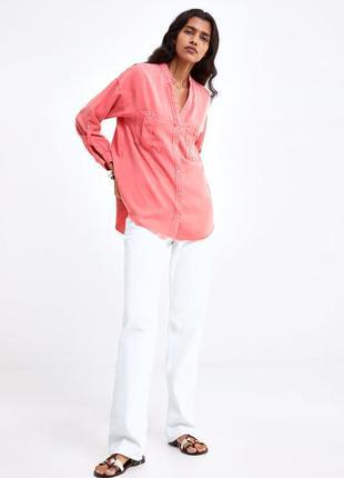 Новая женская рубашка zara xs s l xl zara сорочка жіноча xs s l xl zara блуза