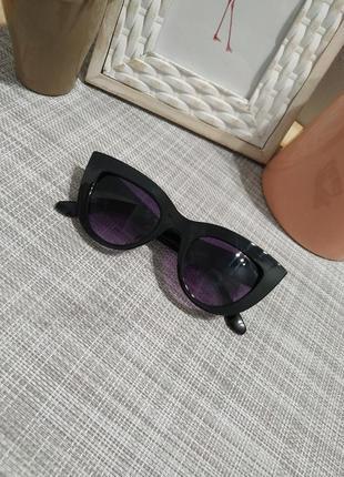 Актуальные черные  солнцезащитные очки, кошечки кошачий глаз, сонцезахисні окуляри3 фото