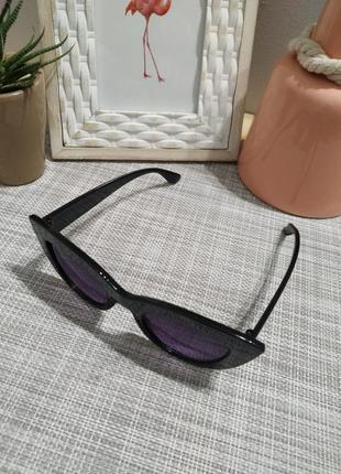 Актуальные черные  солнцезащитные очки, кошечки кошачий глаз, сонцезахисні окуляри6 фото