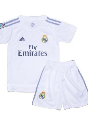 Футбольная форма реал мадрид домашняя для детей adidas 2016 (1592)