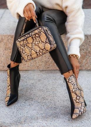 Черные змеиные ботиночки!!!