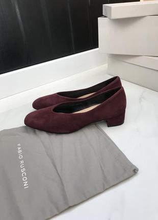 Бордовые туфли fabio rusconi 36/37