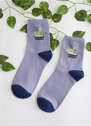 Стильные носки plants хлопок + расцветки!