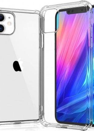 Прозрачный чехол для iphone 11 (усиленный углами)