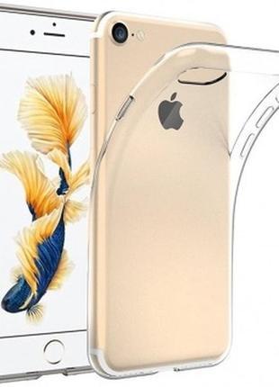 Прозрачный чехол для iphone 7 / 8 (ультратонкий силиконовый)