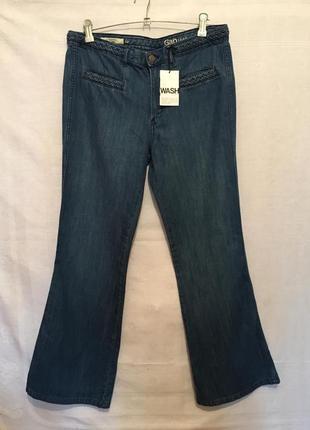 Женские джинсы с плетеным поясом / жіночі джинси сині