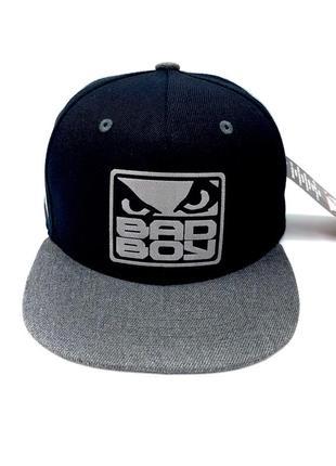 Бейсболка bad boy черная и серая  / кепка бед бой чёрная m-l(54–58см), l-xl(58—62cm)