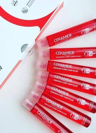 Набор филлеров для волос с керамидами farmstay ceramide damage  - 13 мл×10 шт.