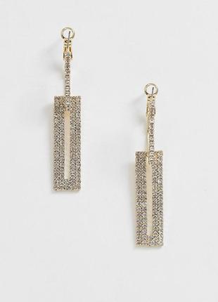 Сережки підвіски, нарядные длинные серьги подвески pieces с сайта asos