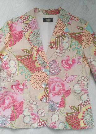 Летний пиджак лен/натуральная ткань