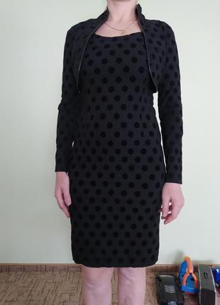Плаття в горошок класичне