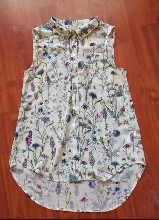 Летняя блуза цветочный принт