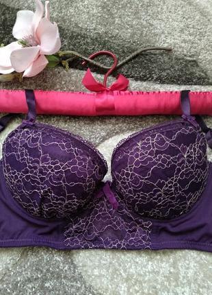 Фиолетовый бюст с люрексом