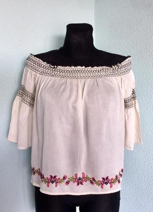 #блузка#хлопковая new look 12-14 размер наш 46-48 цена 99грн