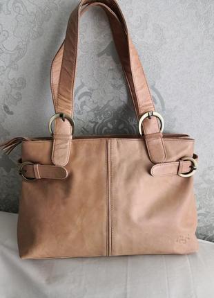 Красивая кожаная сумка gigi💥💥👜