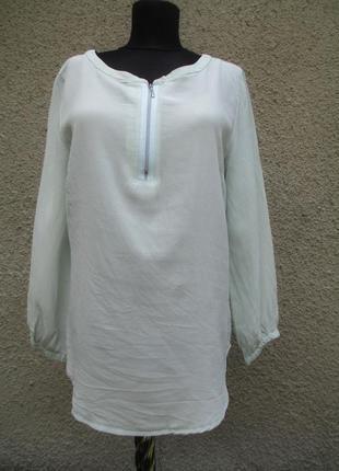 Шелковая блузка цвета аквамарина nadine h
