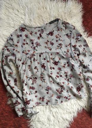 Блузка рубашка в цветочек