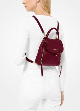 Рюкзак michael kors viv extra-small pebbled leather backpack кожа оригинал