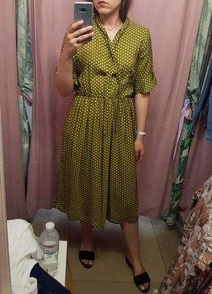 Платье в горошек из вискозы (ретро-стиль)