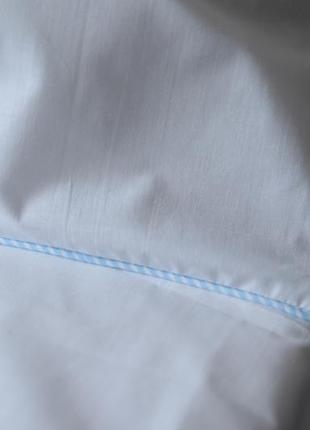 Комплект белого постельного белья бязь евро/семейный