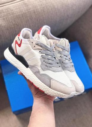 Женские кроссовки adidas nite jogger 3м белые