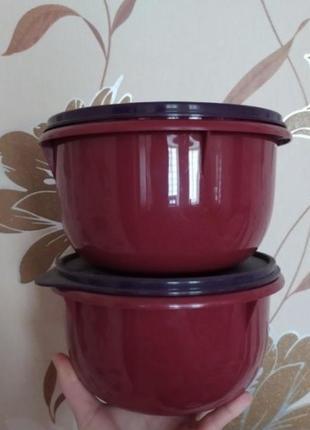 Миски 1 л герметичные tupperware 2 шт