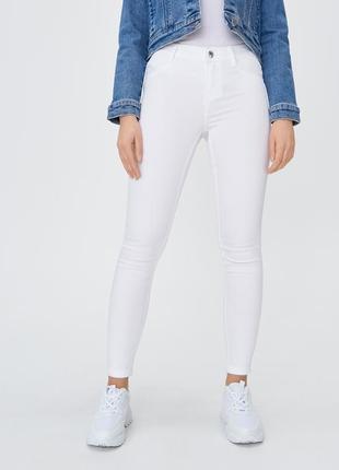 Идеальные белые джинсы джегинсы skynny
