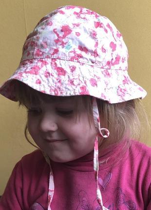 Яркая панамка 👒 на девочку 1-3 года
